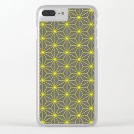 Hemp seed in grey and yellow Clear iPhone Case