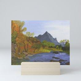 Watchman Mountain, UT Mini Art Print