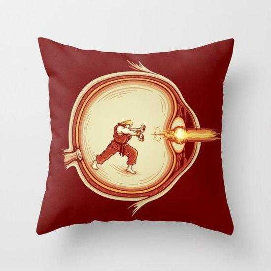Optic Blast Throw Pillow