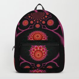 Jewel-toned abstract Backpack