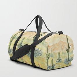 Desert Sunset Landscape Duffle Bag