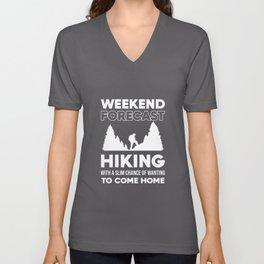Hiking Weekend Forecast Unisex V-Neck