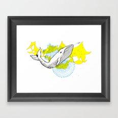 Whale Framed Art Print