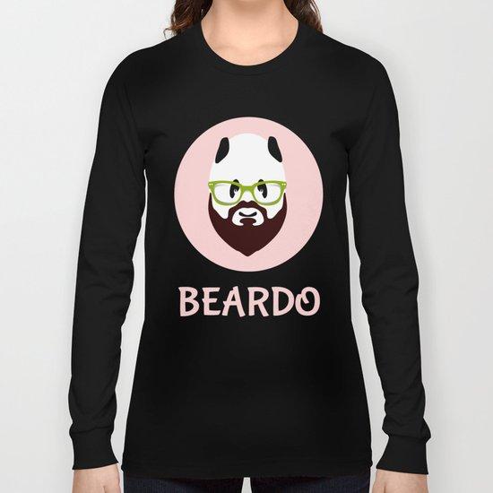 Beardo Panda with a Beard Long Sleeve T-shirt