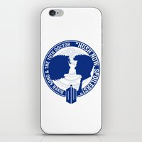 river song iPhone & iPod Skins featuring Doctor Who pals: The 10th doctor & River Song by logoloco
