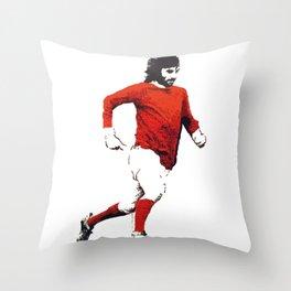 "George Best ""Belfast Boy"" Throw Pillow"