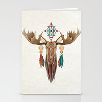 moose Stationery Cards featuring moose by Manoou