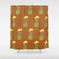 body Shower Curtains featuring Body by Triple Six Illustration