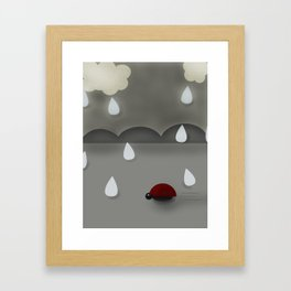 Run Lady Bug Framed Art Print
