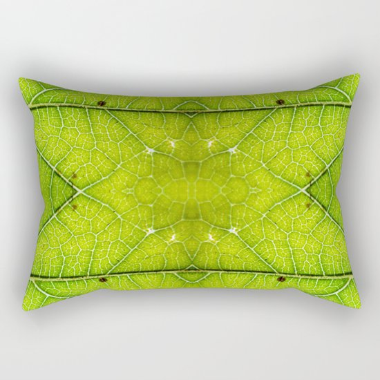 Macro Leaf no 9 Rectangular Pillow