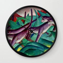 """Franz Marc """"Monkey Frieze (Affenfries)"""" Wall Clock"""