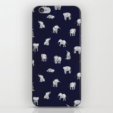 Indian Baby Elephants in Navy iPhone & iPod Skin