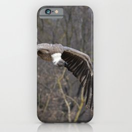 big griffon vulture flies in the sky iPhone Case