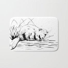 Beaver Yawn Bath Mat