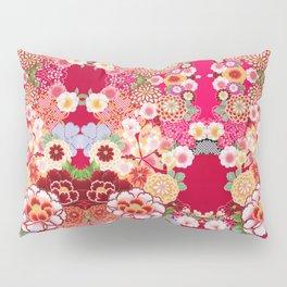 Red Floral Burst Pillow Sham
