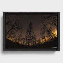 Ninham Fire tower Framed Canvas