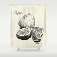 fig Shower Curtains featuring Fig by Benoit Springer