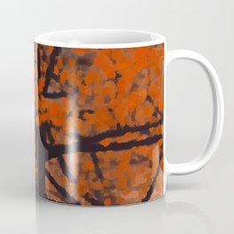 Fall Red Tree Painting Coffee Mug