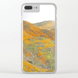 Southern California Poppy Superbloom Clear iPhone Case