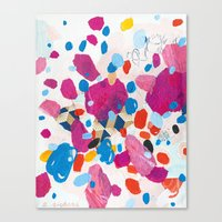 physics Canvas Prints featuring Fuchsia Physics by Emily Rickard