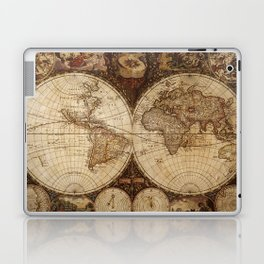 Vintage Map of the World Laptop & iPad Skin