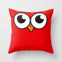 Bird eyes angry bird toes eyes gift Throw Pillow
