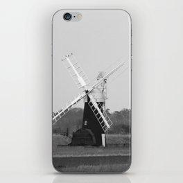 Windmill, Norfolk Broads, England iPhone Skin