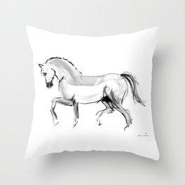 Horse (dressage) Throw Pillow