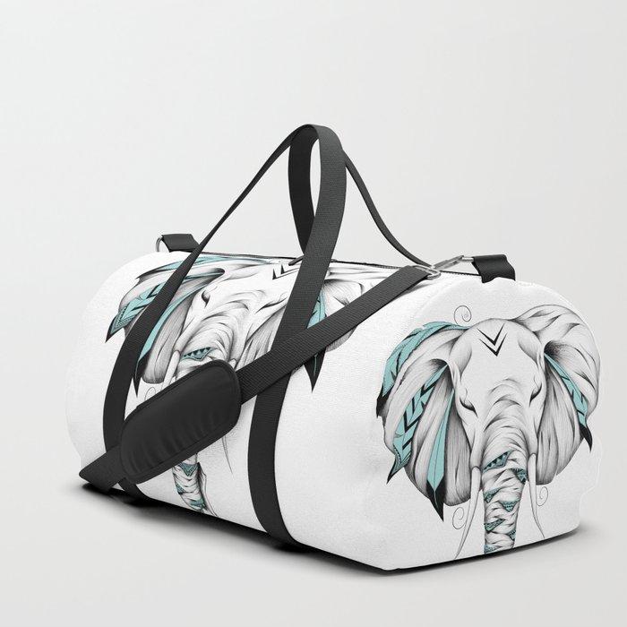 Poetic Elephant Duffle Bag