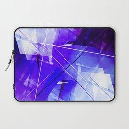 Indigo Chaos - Geometric Abstract Art Laptop Sleeve