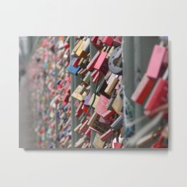 Locks locks and more love Metal Print