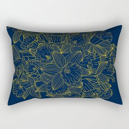 Daffodils by Night Rectangular Pillow