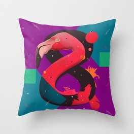 Flamingo 8+ Throw Pillow