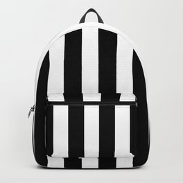 Classic Black and White Football / Soccer Referee Stripes Backpack
