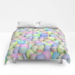 Pastel Colored Easter Eggs Comforters