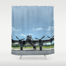 Waiting to Taxi Shower Curtain