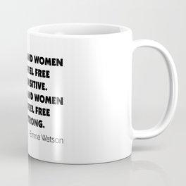 Emma Watson Feminist Quote Coffee Mug