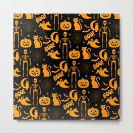 C13D Halloween Pattern Metal Print