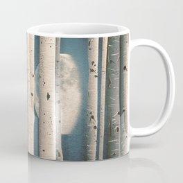 Birch wood at night Coffee Mug