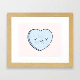 Blue Sweet Candy Heart Framed Art Print