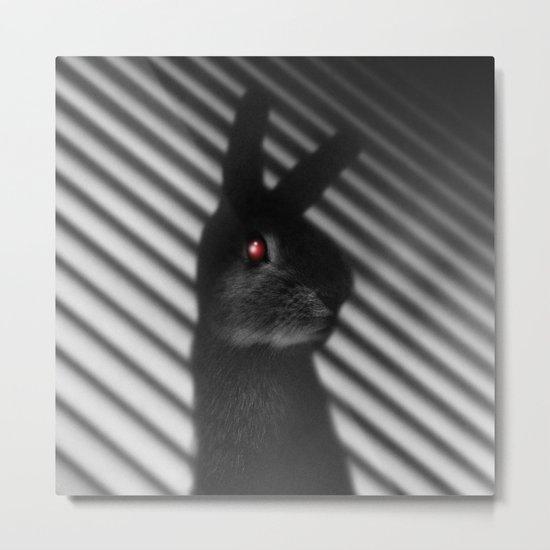 Shadow Bunny Metal Print