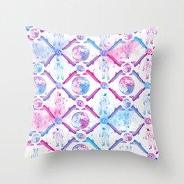 Seamless Space Pattern Throw Pillow