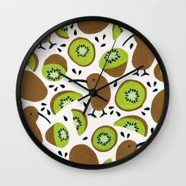 Kiwis & Kiwis Wall Clock