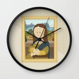 Gioconda by Leonardo Da Vinci Wall Clock