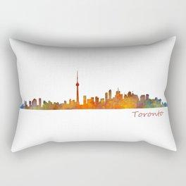 Toronto Canada City Skyline Hq v01 Rectangular Pillow
