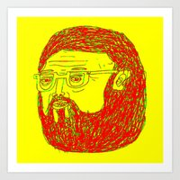 Beard Dude Art Print
