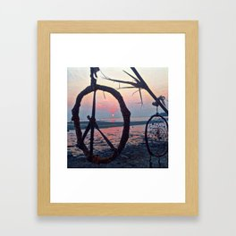 A peace-full sunset #2 Framed Art Print