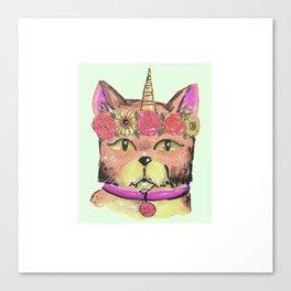 car unicorn unicat cry baby Canvas Print