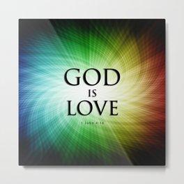 God is Love - Bible Lock Screens Metal Print