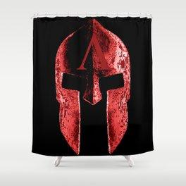god's helmet Shower Curtain